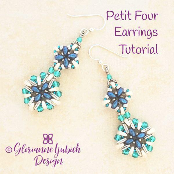 Pe Four Earrings Beading Tutorial